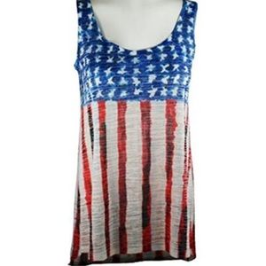 Nally & Millie - U.S. Flag Patriotic Tank Top